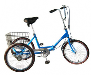 Adult Tricycle, folds for storage