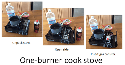 One burner camp stove