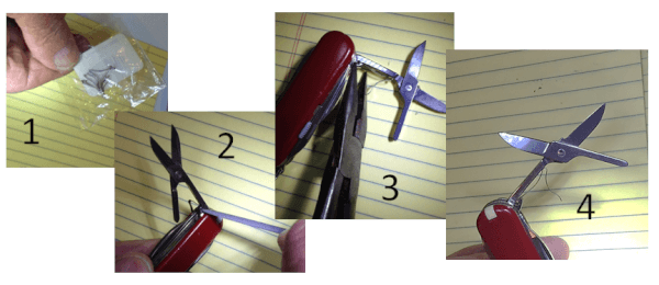 Replace scissors spring on Swiss Army Knife