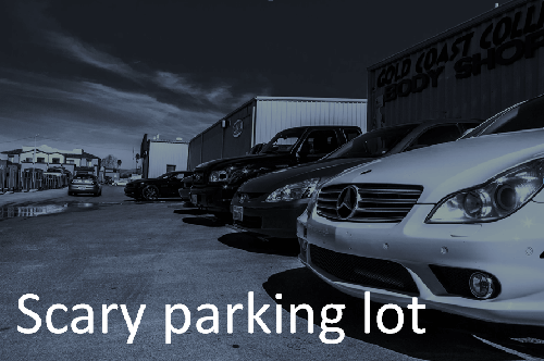 Scary Parking Lot