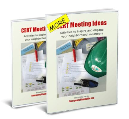 CERT Meeting Ideas Set